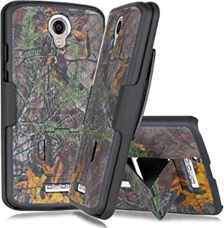 Droid Turbo 2 Holster Case, Mstechcorp Protective Case Cover with Kickstand and Belt Swivel Clip for Motorola Droid Turbo 2 (XT1585) Phone case with Goodie (Camo Orange)