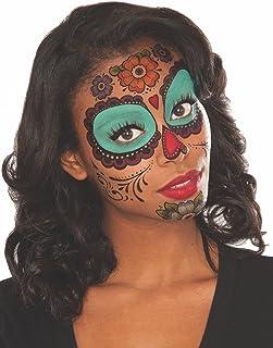 Rubie 's Costume Co de la Mujer Floral día de los Muertos Cara Tatuaje