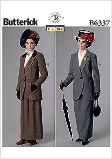BUTTERICK PATTERNS B6337 Notch-Collar Jackets & Floor-Length Skirts, A5 (6-8-10-12-14)