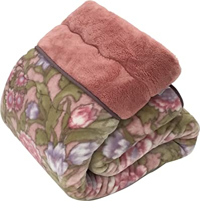 西川(Nishikawa) 毛布 ピンク シングル 140×200㎝ 日本製わた入り毛布 洗える アクリル ハイボリューム 衿付 2K4272