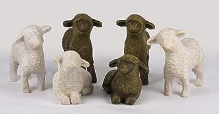 Willow Tree Six Black and White Sheep Nativity Figurines