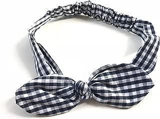 black and white plaid headband