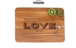 Tagliere in legno personalizzato - mod. 'Love'