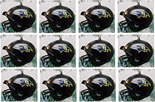 Baltimore Ravens Set of 12 Holiday Christmas Tree Ornaments Featuring Ravens Team Ornaments Ranging from 1.5