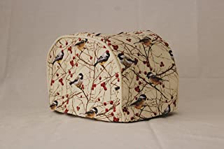 Simple Home Inspirations 4 Slice Toaster Cover - Birds and Berries (4 Slice Long Slot)