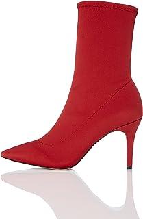 bottine femme talon rouge
