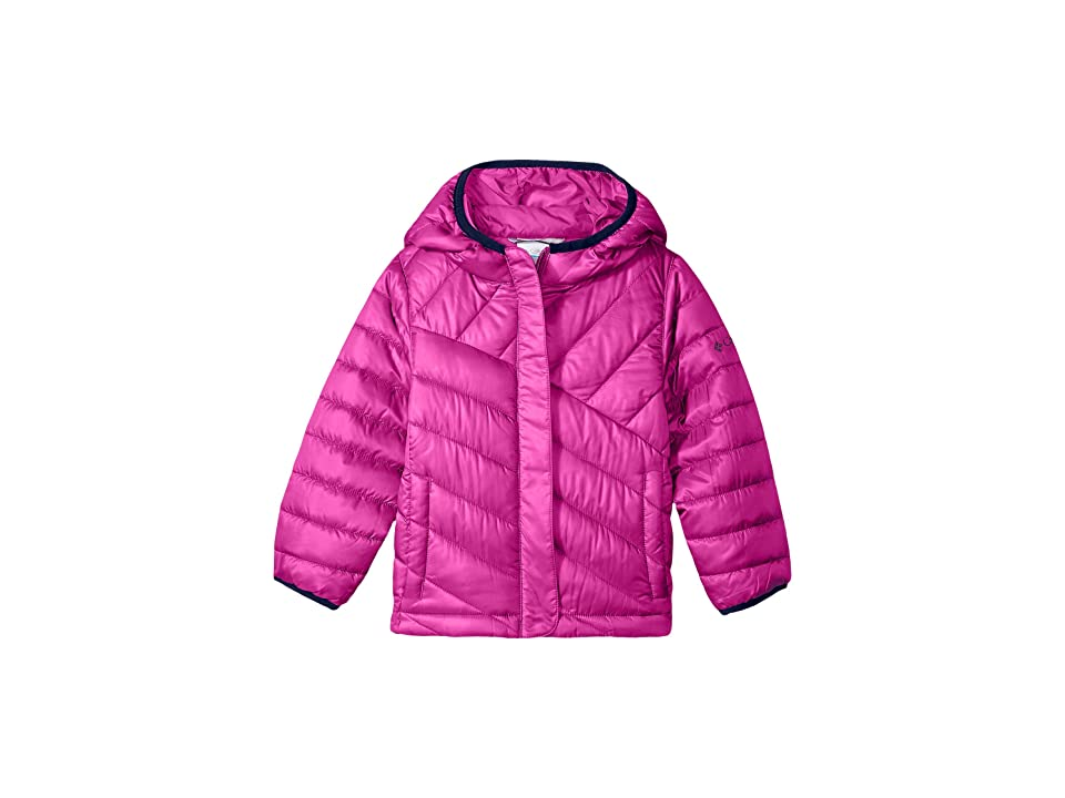Columbia Kids Powder Litetm Puffer (Little Kids/Big Kids) (Deep Blush/Collegiate Navy) Girl