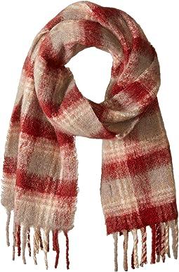 Alpaca Blend Ombre Plaids Blanket Wrap