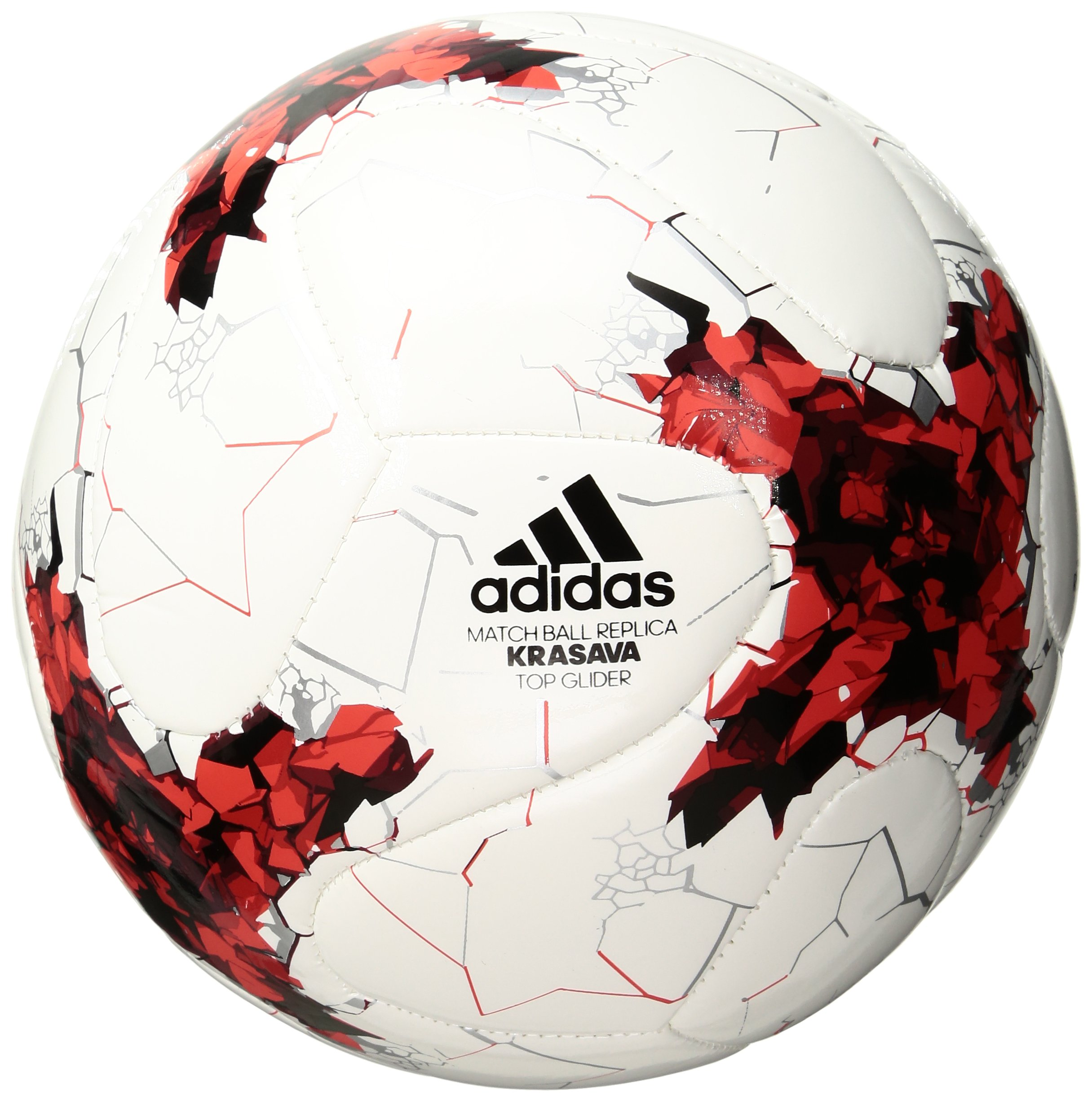 Viajero asentamiento superávit  adidas Performance Confederations Cup Top Replique Soccer Ball, Unisex,  S1706LSB001TREP, White/Red/Power Red/Clear Grey, Size 5: Amazon.com.au:  Sports, Fitness & Outdoors