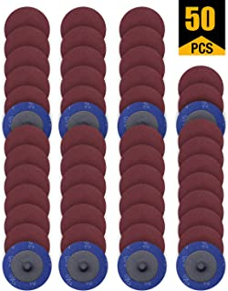 50 PCS SATC 2 Inch Roloc Disc 60 Grit Sanding Discs Set Fits Air Die Grinder Aluminum..