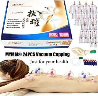 24 Cupping Cups Biomagnetic Traditional Chinese Therapy Cupping Set Household Pull Out Vacuum Cupping Kit/Chinese Massage ...