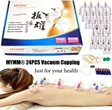 24 x ventosas, Ahuecamiento, Tratamiento Ventosas Masaje, Terapia biomagnética Tradicional China Cupping Set Hogar Sacar Vacío Cupping Kit/Chino Masaje Medical Cupping Set Succión Acupuntura