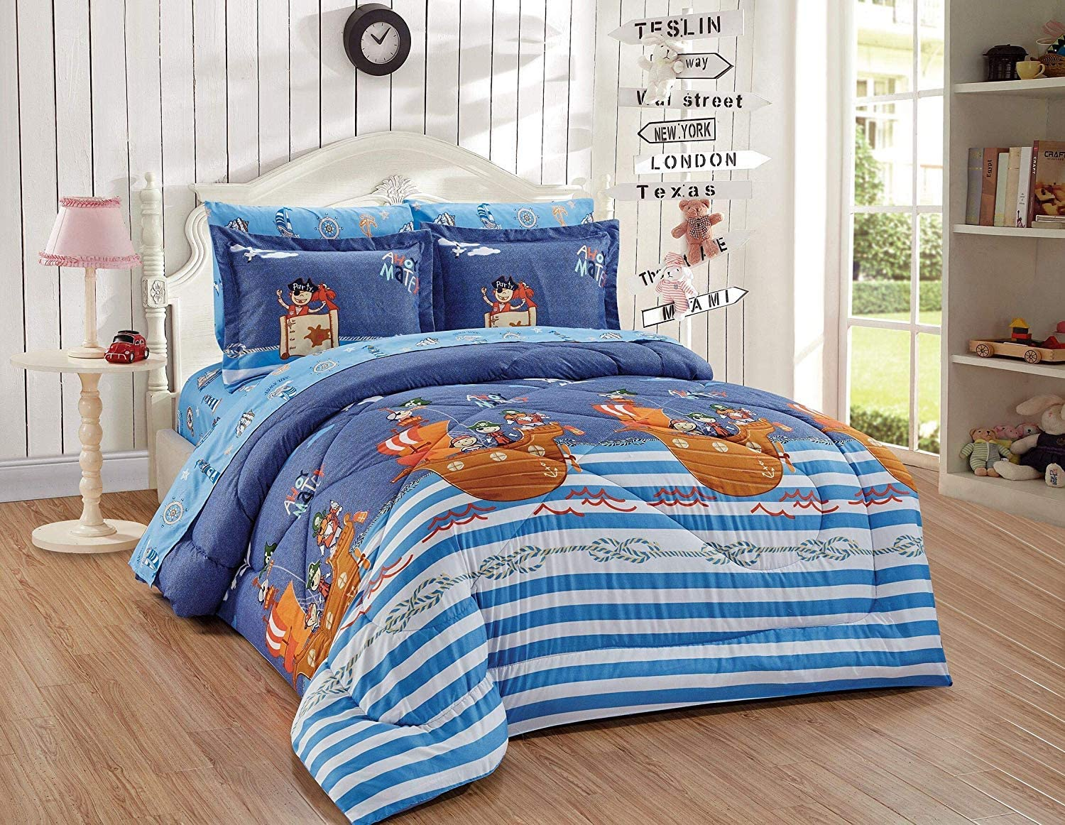 Luxury Home Collection Kids Max 40% OFF Toddlers Boys Twin Popular overseas Mult Size 5 Piece