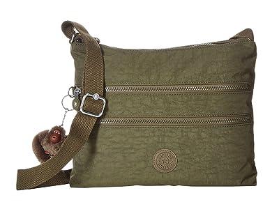 Kipling Alvar Crossbody Bag (Jaded Green) Cross Body Handbags