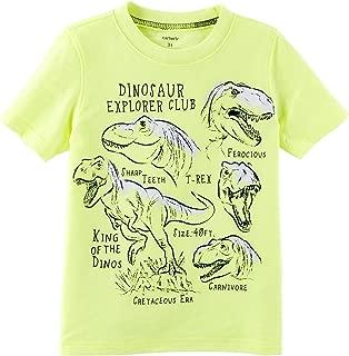 Carter's Boys' 2T-8 Short Sleeve Dino Explorer Tee 3T
