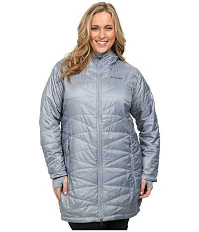 Columbia Plus Size Mighty Litetm Hooded Jacket (Tradewinds Grey) Women