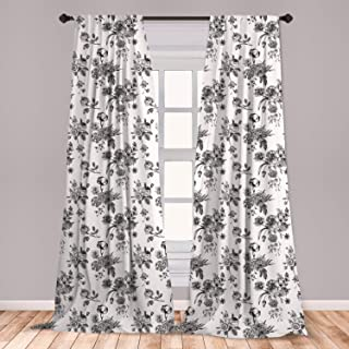 Best black and white floral curtains for bedroom Reviews