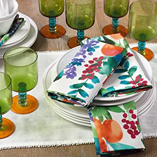 Occasion Gallery Multi Color Orchard Printed Design Cloth Dinner Napkin, 20