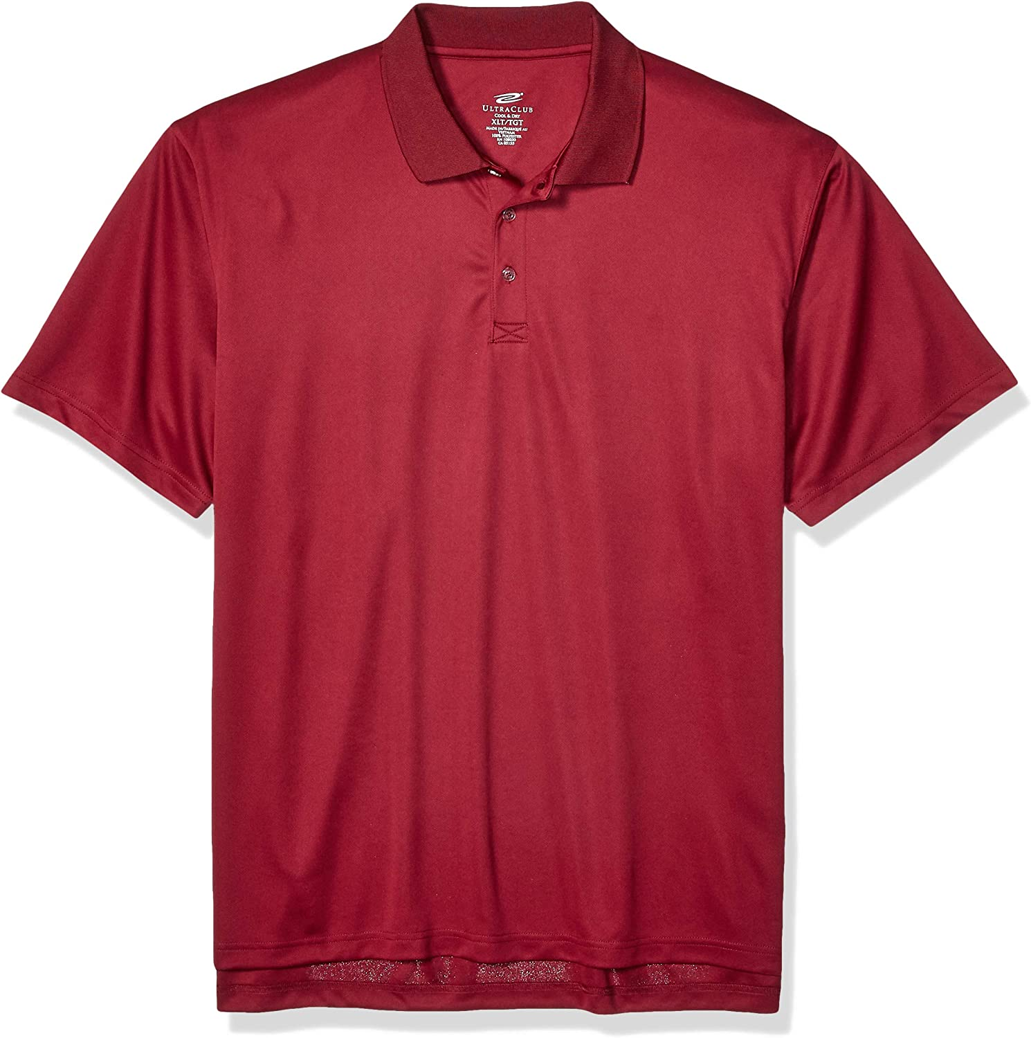 UltraClubs Men's Size ULTC-8405T-Tall Cool & Dry Sport Polo, Stone X-Large Tall