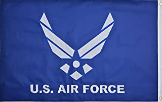 air force retirement flag size