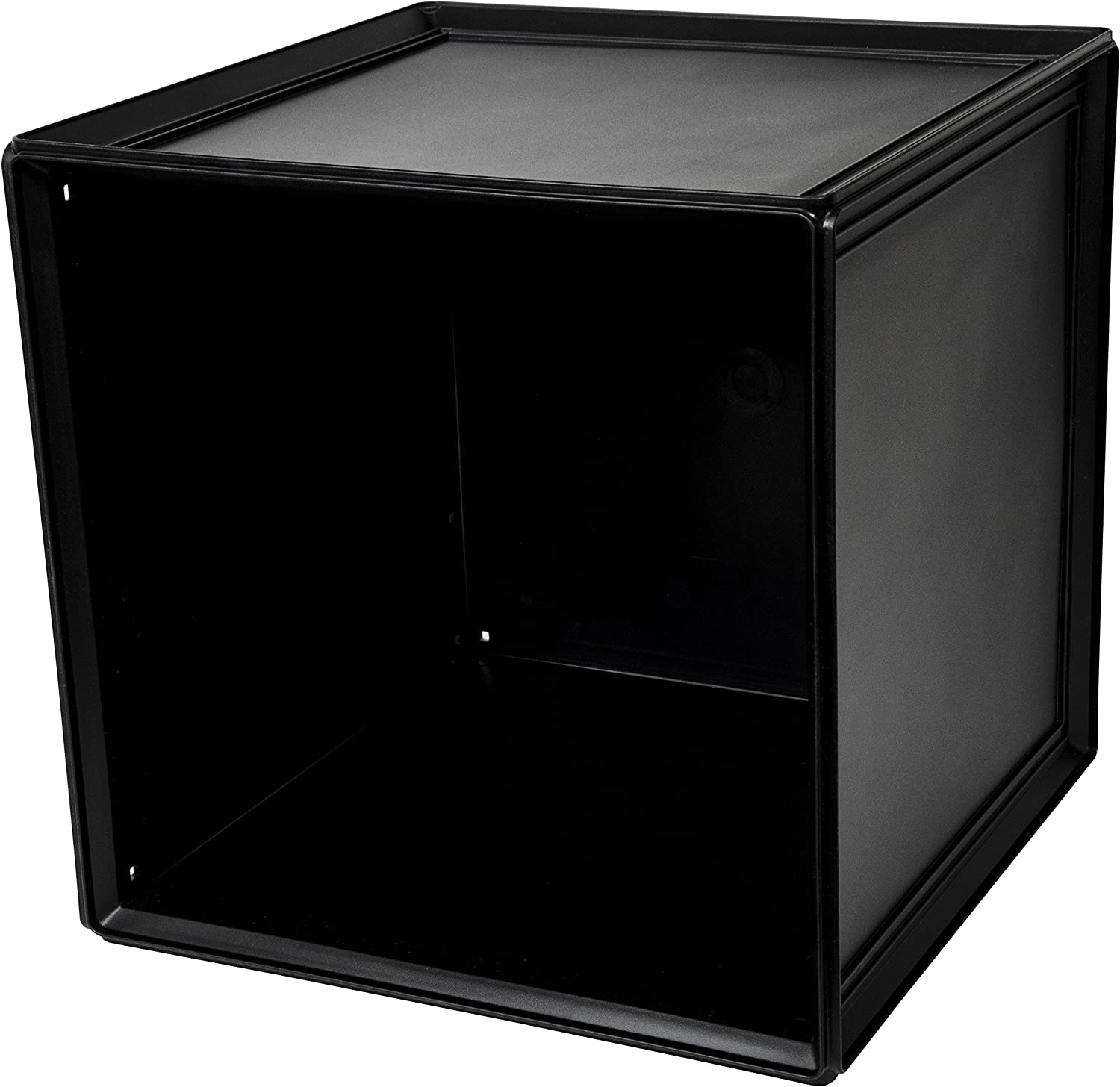 B+in Black Solid Storage Cube, 2 Piece