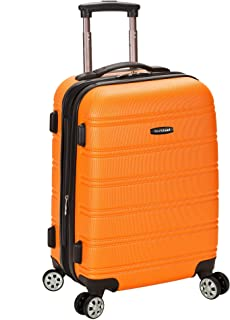 Rockland Melbourne Hardside Expandable Spinner Wheel Luggage, Orange, Carry-On 20-Inch