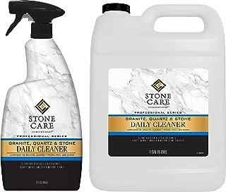 Stone Care International Granite Cleaner - Value Pack - 32 Ounce Trigger and 1 Gallon - Granite Marble Quartz Tile Travertine Limestone Slate Daily Cleaner