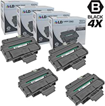 LD Compatible Toner Cartridge Replacement for Xerox Phaser 3250 106R1374 High Yield (Black, 4-Pack)