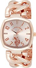 U.S. Polo Assn. Women's Analog-Quartz Watch with Alloy Strap, Rose Gold, 11 (Model: USC40251AZ)
