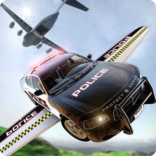 Prison Break Flying Police Car Escape Survival Simulator Mission 3D: Prisoner Jail Breakout In Airplane Adventure Parking Sim Games For Kids Free