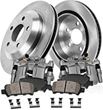 CCK02623 [2] REAR Original Calipers + [2] OE Rotors + [4] Low Dust Ceramic Brake Pads