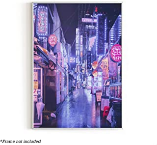 """RipGrip Urban Willow - Art Posters, College Posters, Dorm Decorations, Cool Posters for Guys, Trippy Room Decor, Neon Posters, 12"""" x 16"""" (Seoul)"""