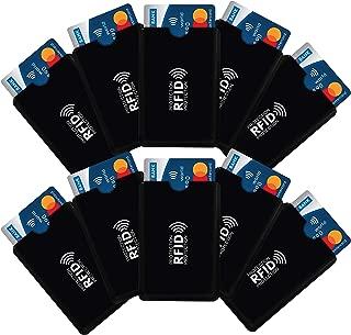 iParn RFID Sleeves Credit Card Sleeve, Debit Card Sleeves, ATM Card Cover, Card Protector Sleeves Blocks Credit Cards Black RFID Credit/Debit Card Sleeves-10 pcs