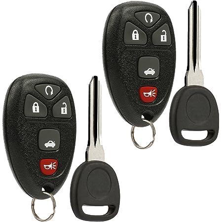 Keyless Entry Remote Ignition Key Fob fits Chevy Cobalt Malibu/Buick Allure Lacrosse/Pontiac G5 G6 Grand Prix Solstice/Saturn Aura Sky (fits Part # 22733524), Set of 2