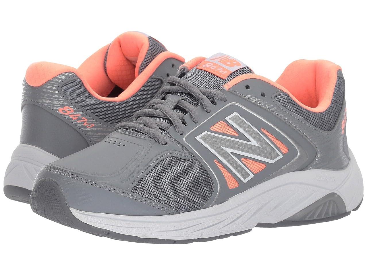 退屈灰オーガニックレディースウォーキングシューズ?靴 WW847v3 Grey/Pink 8.5 (25.5cm) 2A - Narrow [並行輸入品]