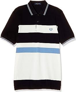 [フレッドペリー] ポロシャツ BLOCK STRIPE POLO SHIRT M8610 メンズ 608_NAVY UK S (日本サイズM相当)