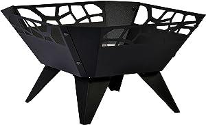 dobar 35416 Brasero, par pulvérisation Braséro, Design pour Jardin Balcon terrasse carrée pour extérieur, Acier Inoxydable, Noir, 51.5x 51,5x 30cm, 35416