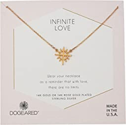 Dogeared - Infinite Love, Cross with Rays Charm Necklace