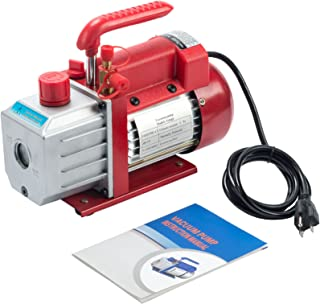 Orion Motor Tech 4.5CFM Single Stage Vacuum Pump (1/3HP, 1/4 inch Flare, 1/2 inch Acme Inlet) for AC HVAC Refrigerant Recharging, Wine Degassing, Milking, Medical, Food Processing(Oil Not Included)