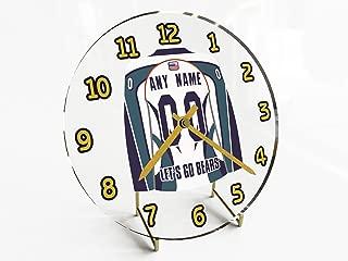 ECHL East Coast Hockey League Jersey Themed Desktop Clocks - All E C H L Team Colours Available - Support Your Team !!!