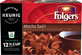 Folgers Mocha Swirl K-Cup Coffee Pods, 12 pods, 108g, {Imported from Canada}