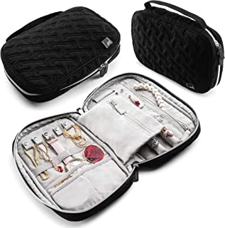 Travel Jewelry Organizer Case for Women - Travel accessories, Jewelry Roll Travel case Functions as a Jewelry Box, Pouch f...