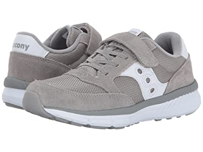 Saucony Kids Originals Jazz Lite A/C (Little Kid) (Grey/White) Kids Shoes