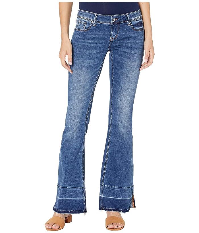 Grace in LA Mid-Rise Easy Fit Trouser Jeans in Blue (Blue) Women's Jeans