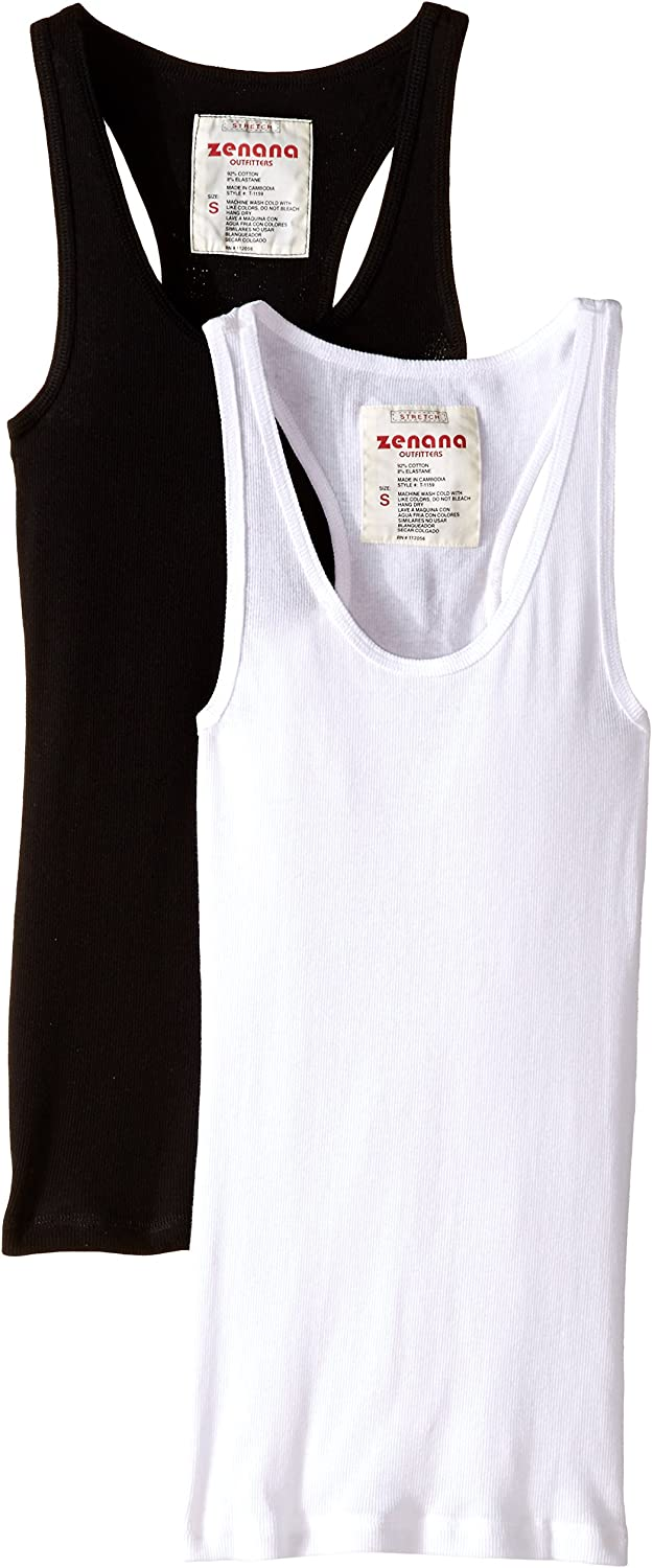 Cheap Zenana Outfitters Womens 2 Outlet sale feature Pack Ribbed Basic Top Tank