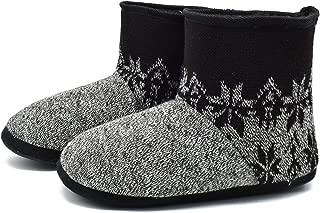 Zapatillas Interiores Antideslizantes Forradas de Piel sintética de Punto para Hombre Zapatillas de casa con Botines Boot House
