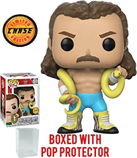 Funko Pop! WWE Jake 'The Snake' Roberts CHASE Variant Limited Edition Vinyl Figure (Bundled with Pop Box Protector Case)