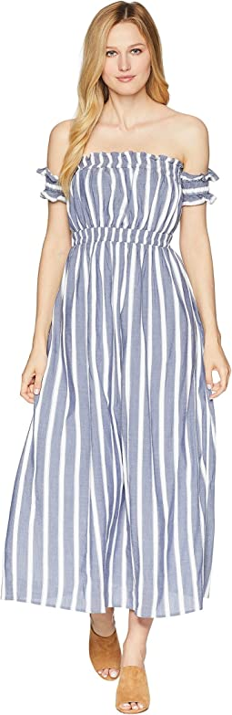 CeCe Billie - Off the Shoulder Striped Maxi