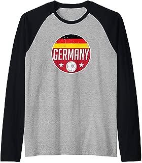 Germany Football Soccer Team Supporter Flag Jersey Berlin Raglan Baseball Tee