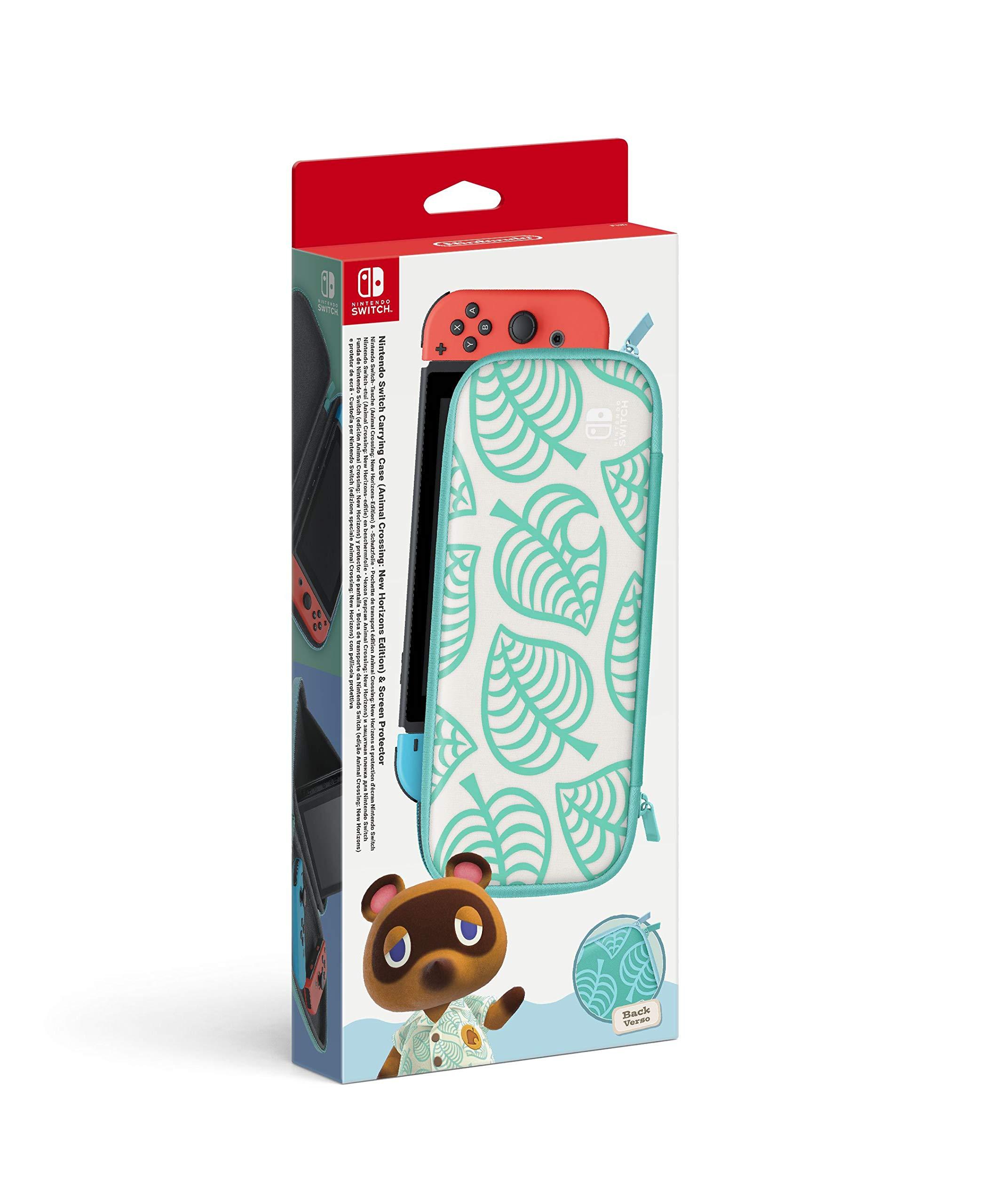 Funda + protector LCD para consola Nintendo Switch edición Animal Crossing: New Horizons (Nintendo Switch): Amazon.es: Videojuegos